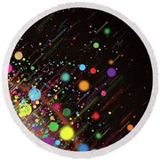 Moving Spheres. Round Beach Towel