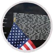 Moving Wall - Vietnam Memorial Round Beach Towel