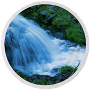 Moving Water Can Move Your Soul Round Beach Towel