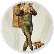 Mozart: Magic Flute, 1791 Round Beach Towel