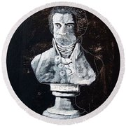 Mozart Round Beach Towel