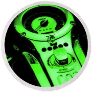 Mph Green 5485 G_4 Round Beach Towel