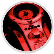 Mph Red 5485 G_2 Round Beach Towel