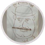 Mr Bloom - Red Round Beach Towel