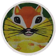 Mr Chipmunk Round Beach Towel
