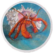 Mr. Crab Round Beach Towel