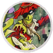 Mr. Graffiti Round Beach Towel