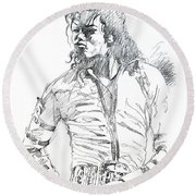 Mr. Jackson Round Beach Towel