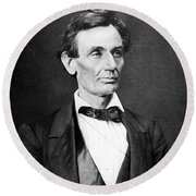 Mr. Lincoln Round Beach Towel by War Is Hell Store