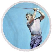 Mr Palmer Round Beach Towel