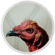 Mr. Rooster II Round Beach Towel