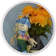 Mr Scarecrow Round Beach Towel