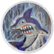 Mr. Shark Round Beach Towel