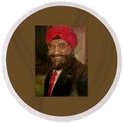 Mr. Singh Round Beach Towel