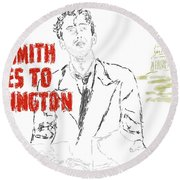 Mr Smith Goes To Washington  Round Beach Towel