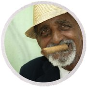 Mr Trinidad  Round Beach Towel