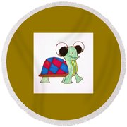 Mr. Turtle Round Beach Towel
