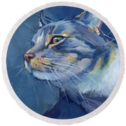 Mr. Waffles Round Beach Towel