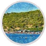 Megalo Kavouri Beach Round Beach Towel