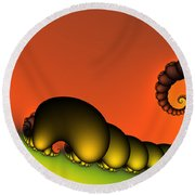 Mrs. And Mr. Centipede Round Beach Towel