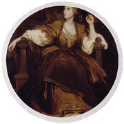Mrs Siddons As The Tragic Muse Round Beach Towel