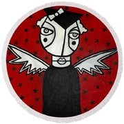 Mrs.creepy Round Beach Towel