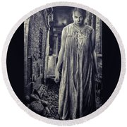Mss Creepy Round Beach Towel