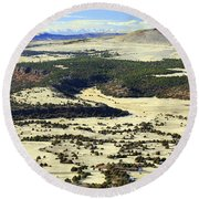 Mt. Capulin New Mexico Round Beach Towel
