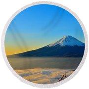 Mt. Fugi Round Beach Towel