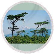 Mt. Fuji ... Round Beach Towel