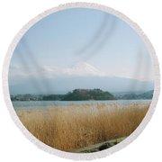 Mount Fuji View Round Beach Towel