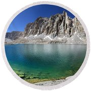 Mt Hitchcock Over Lower Hitchcock Lake 2 - Sierra Round Beach Towel