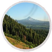 Mt Hood In The Distance Round Beach Towel