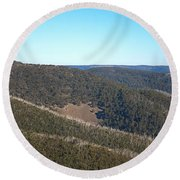 Mt Hotham In Early April Round Beach Towel