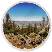 Mt. Howard, Wallowa Lake Round Beach Towel
