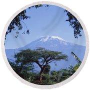 Mt. Kilimanjaro,moshi,tanzania Round Beach Towel