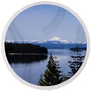 Mt Lassen Round Beach Towel