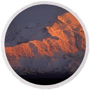 Mt. Mckinley Sunset Round Beach Towel