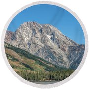 Mt Moran At The Grand Tetons Round Beach Towel