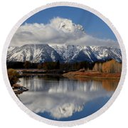 Mt Moran Round Beach Towel