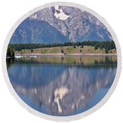 Mt. Moran Round Beach Towel