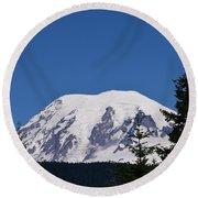 Mt Rainier Round Beach Towel