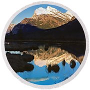 Mt Rundle Round Beach Towel