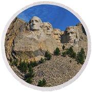 Mount Rushmore-2 Round Beach Towel