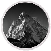 Mt Shivling Above Tapovan Round Beach Towel