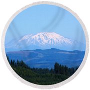 Mt. St. Helens Round Beach Towel