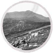 Mt Tam From The Tiburon Hills 1975 Round Beach Towel