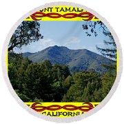 Mt Tamalpais Framed 4 Round Beach Towel