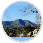 Mt Tamalpais View From Mill Valley Round Beach Towel