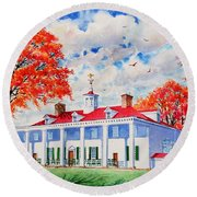 Mt. Vernon East Front In Fall Round Beach Towel